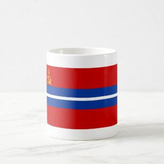 Kirghiz SSR Flag Classic White Coffee Mug