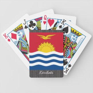 Kiribati Flag pillow Bicycle Card Deck