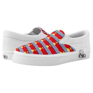 Kiribati Flag --.png Slip-On Sneakers