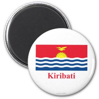 Kiribati Flag with Name Refrigerator Magnet