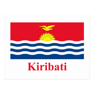 Kiribati Flag with Name Postcard