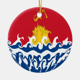 Kiribati Gnarly Flag Ceramic Ornament
