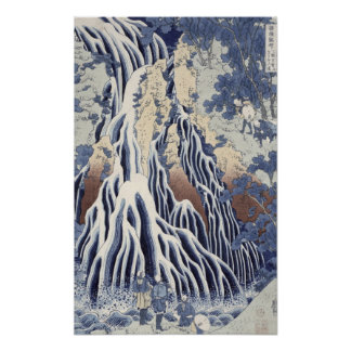 Kirifuri Fall on Kurokami Mount Poster