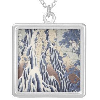 Kirifuri Fall on Kurokami Mount Silver Plated Necklace