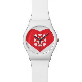 Kirigami Japanese Papercutting Red Heart Watch