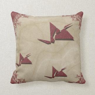 Kirigami Red Birds Throw Pillow