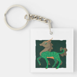 Kirin - digital paper cut-out keychain