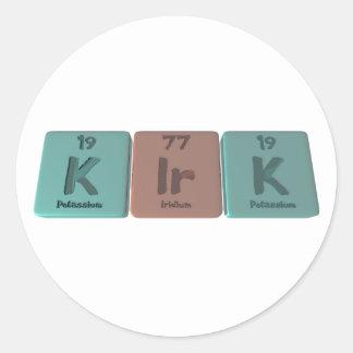 Kirk as Potassium Classic Round Sticker