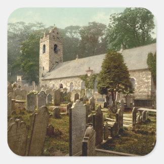 Kirk Braddan, Douglas, Isle of Man, England Square Sticker