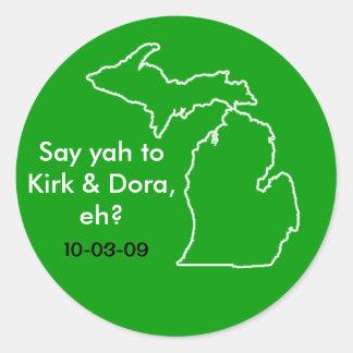 "Kirk & Dora 3"" Stickers - Sheet of 6"