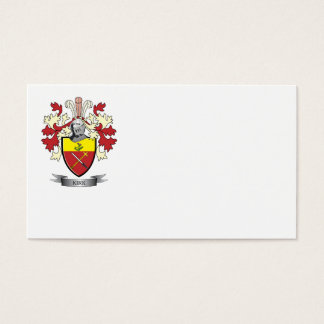 Kirk Family Crest Coat of Arms Business Card
