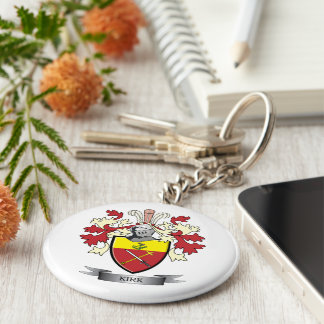 Kirk Family Crest Coat of Arms Keychain