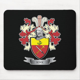 Kirk Family Crest Coat of Arms Mouse Pad