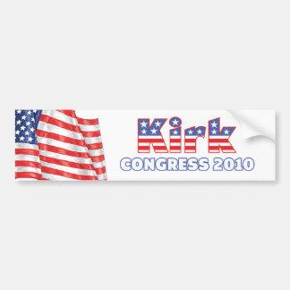 Kirk Patriotic American Flag 2010 Elections Bumper Sticker