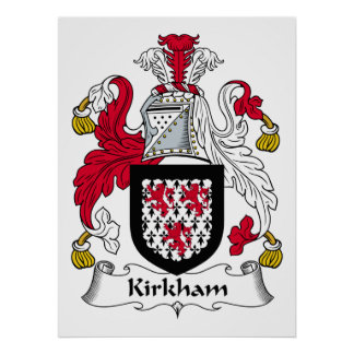Kirkham Family Crest Print