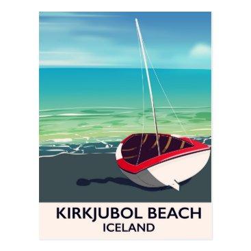 Beach Themed Kirkjubol Beach Iceland vacation poster Postcard