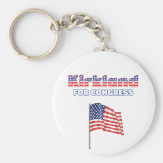 Kirkland for Congress Patriotic American Flag Desi Key Chains