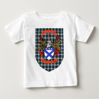 Kirkpatrick Crest on Colquhoun Dress Tartan
