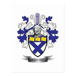 Kirkpatrick Family Crest Coat of Arms Postcard