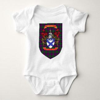 Kirkpatrick Kilpatrick Crest on Colquhoun Tartan Baby Bodysuit