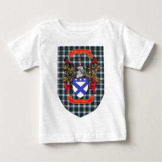 Kirkpatrick Kilpatrick crest on Colquhoun Tartan Baby T-Shirt