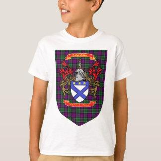 Kirkpatrick Kilpatrick Crest on Colquhoun Tartan T-Shirt