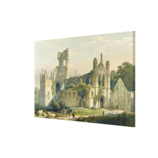 Kirkstall Abbey from the North West, from 'The Mon Stretched Canvas Print