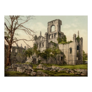 Kirkstall Abbey, Leeds, Yorkshire, England Print
