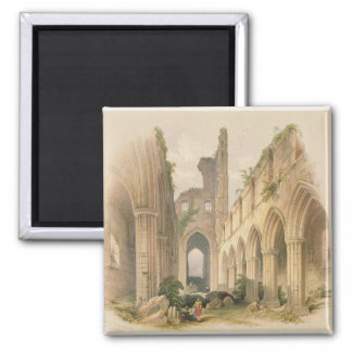 Kirkstall Abbey, the Nave and Choir, from 'The Mon 2 Inch Square Magnet