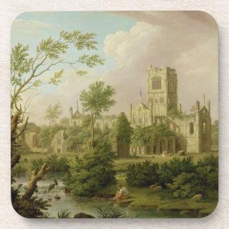 Kirkstall Abbey, Yorkshire, 1747 (oil on canvas) Coasters