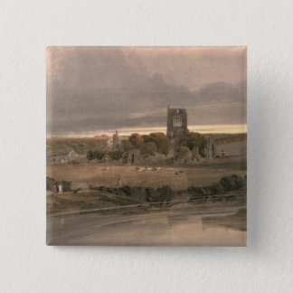 Kirkstall Abbey, Yorkshire - Evening Pinback Button