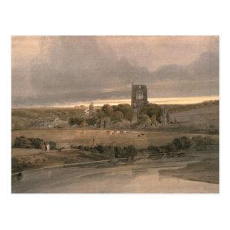 Kirkstall Abbey, Yorkshire - Evening Postcard