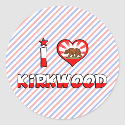 Kirkwood, CA Pegatina Redonda