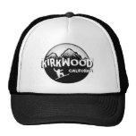 Kirkwood California black white snowboarder hat