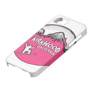 Kirkwood California pink snowboard iphone 5 case