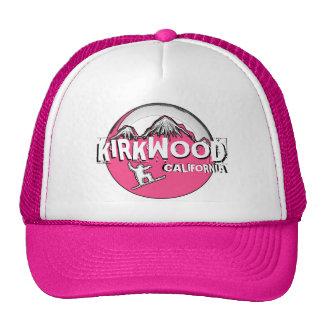 Kirkwood California pink theme snowboarder hat