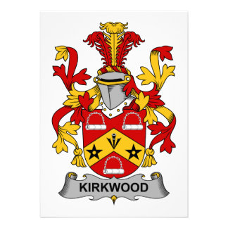 Kirkwood Family Crest Personalized Invitation