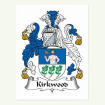 Kirkwood Family Crest Postcard