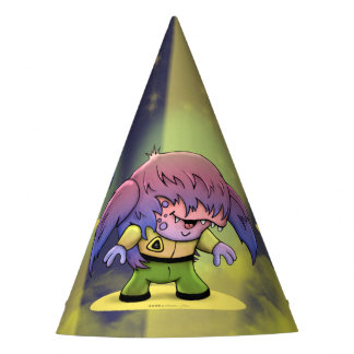 KIRKY MONSTER ALIEN CUTE CARTOON PARTY HAT