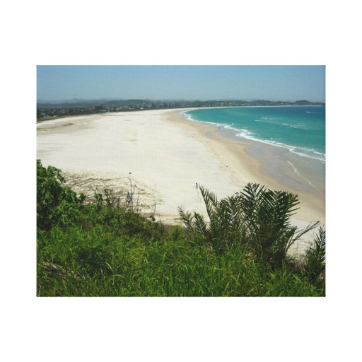 Kirra Beach Australia Wrapped Canvas