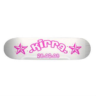 kirra pink skateboard deck