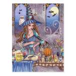 Kirra - postal de la bruja, del gato y del búho