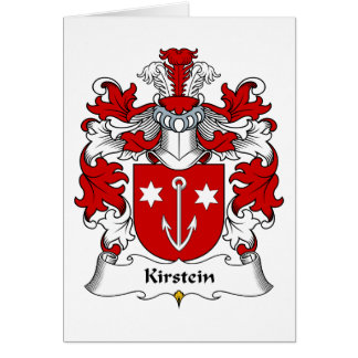 Kirstein Family Crest Greeting Card