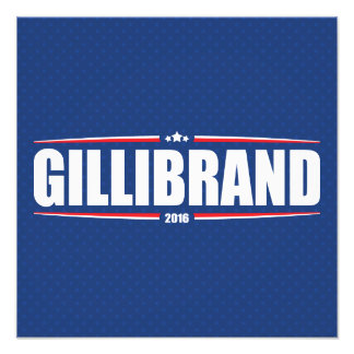 Kirsten Gillibrand 2016 (estrellas y rayas - azul) Impresion Fotografica