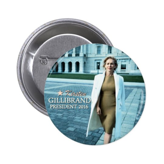 Kirsten Gillibrand for President 2016 Pinback Button
