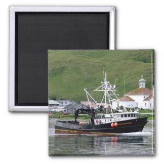 Kirsten Marie, Crab Boat in Dutch Harbor, Alaska 2 Inch Square Magnet