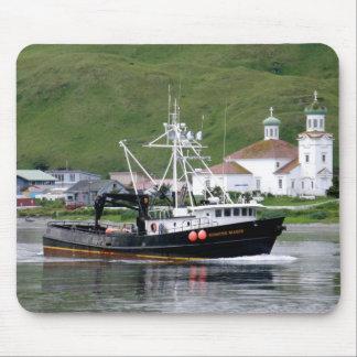 Kirsten Marie, Crab Boat in Dutch Harbor, Alaska Mouse Pad