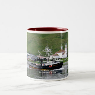 Kirsten Marie, Crab Boat in Dutch Harbor, Alaska Two-Tone Coffee Mug