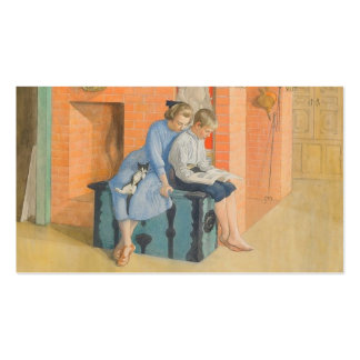 Kirsti and Esbjorn Reading a Book Together Double-Sided Standard Business Cards (Pack Of 100)