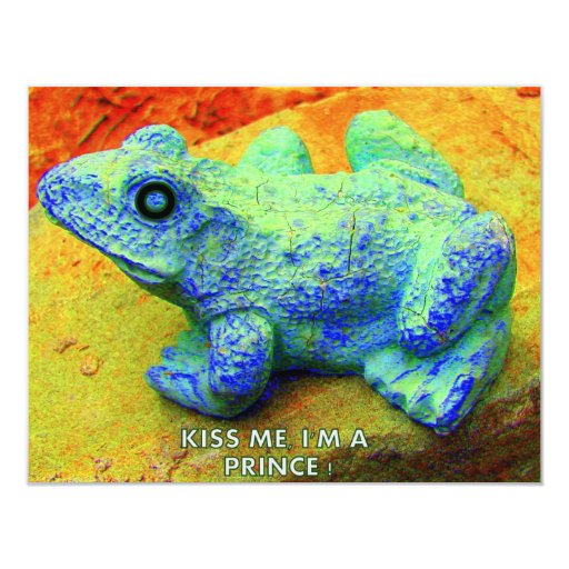 KIS ME I'M A PRINCE 4.25X5.5 PAPER INVITATION CARD